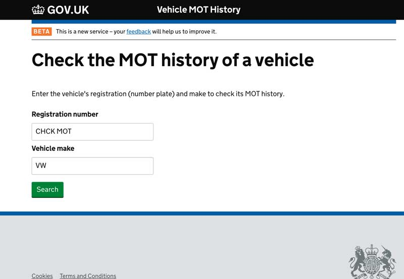 mot test inspection
